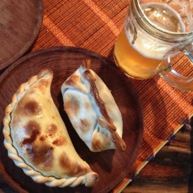 Beer and empanadas, a perfect pairing.